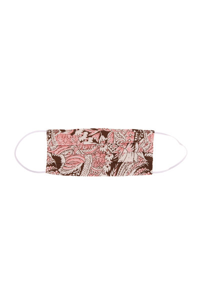 Made by Hand - Pink & Brown Floral Print Mask