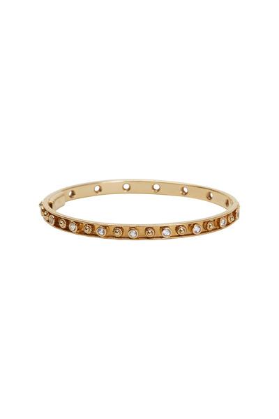 Emily & Ashley - Yellow Gold Moonstone Flower Bracelet