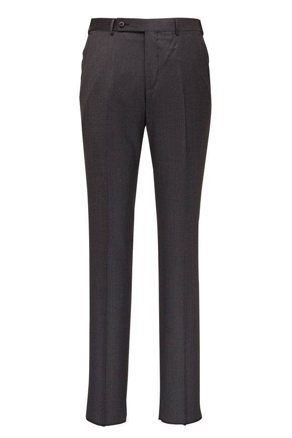 Ermenegildo Zegna Gray Wool & Silk Pant