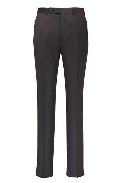 Ermenegildo Zegna - Gray Wool & Silk Pant