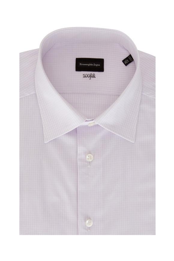 Ermenegildo Zegna Lavender Soft Check Sport Shirt