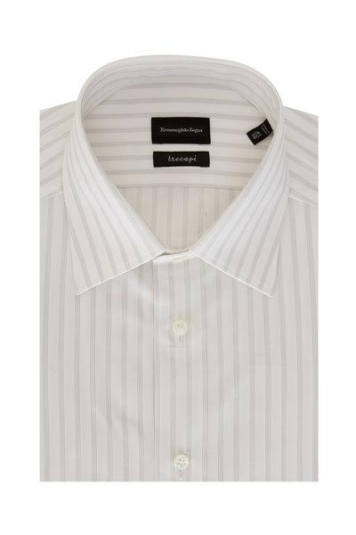 Ermenegildo Zegna - Trecapi Light Gray Striped Sport Shirt