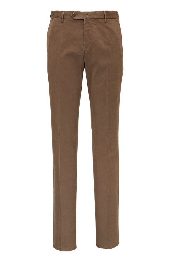 PT Torino Brown Superfine Stretch Slim Fit Pant