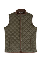 Peter Millar - Essex Olive Quilted Nylon Vest