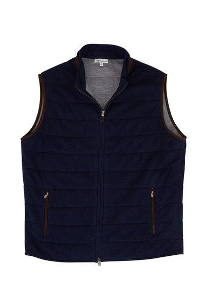 Peter Millar - Navy Wool & Cashmere Front Zip Vest