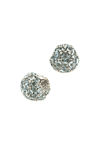 Paul Morelli - White Gold Aquamarine Larange Ball Clip Earrings