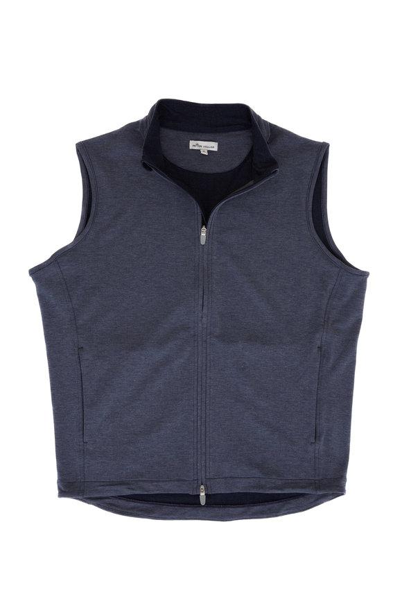 Peter Millar Halls Navy Front Zip Vest