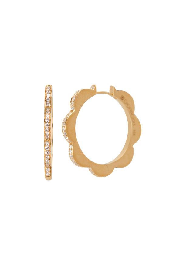 Cadar Rose Gold Medium Triplet Hoop Earrings