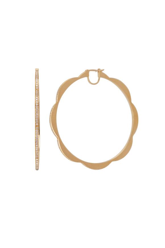 Cadar 18K Yellow Gold Jumbo Triplet Hoop Earrings