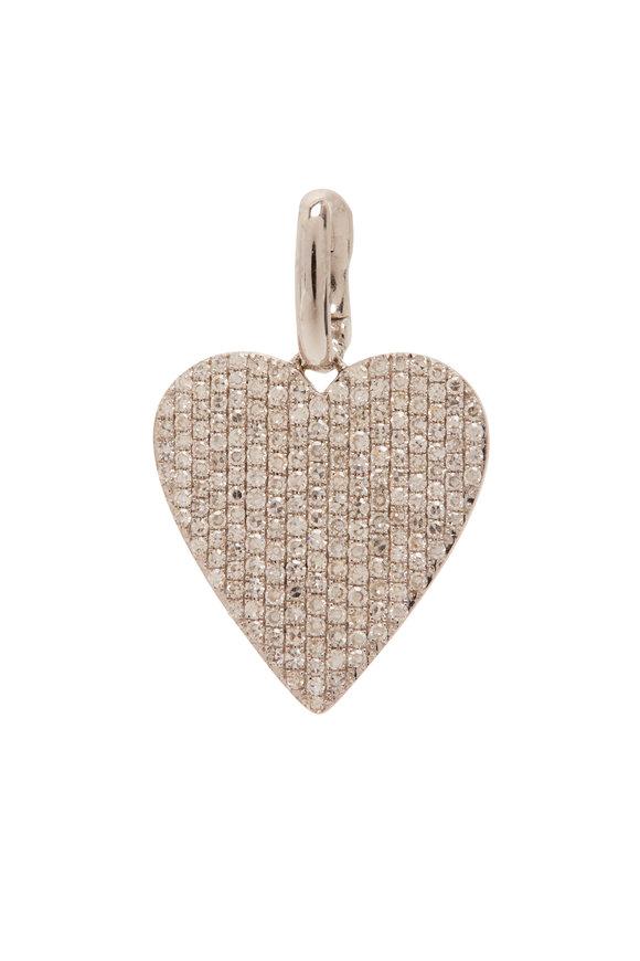 Kai Linz White Gold Diamond Jumbo Heart Charm