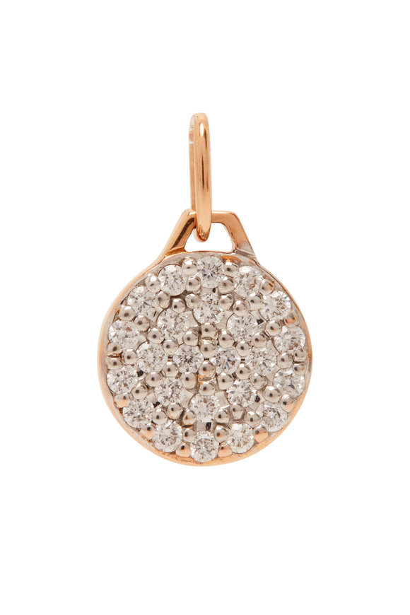 Walters Faith 18K Rose Gold Diamond Mini Charm