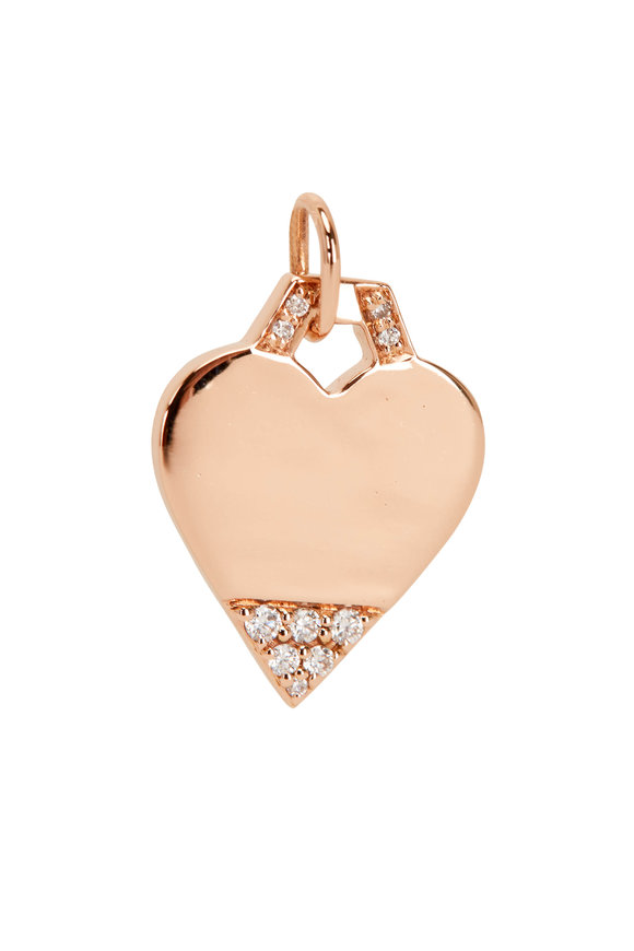 Walters Faith 18K Rose Gold Dora Diamond Mini Heart Charm