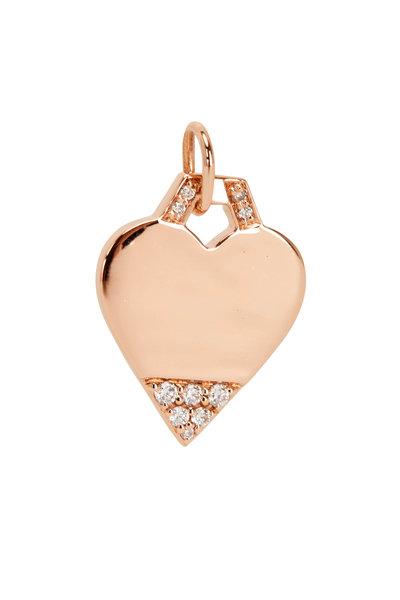 Walters Faith - 18K Rose Gold Dora Diamond Mini Heart Charm
