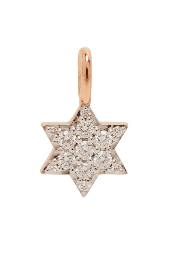 Walters Faith 18K Rose Gold Dora Diamond Mini Star Charm