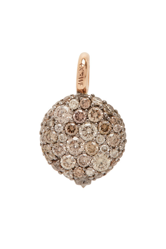 Walters Faith 18K Rose Gold Champagne Diamond Pebble Charm