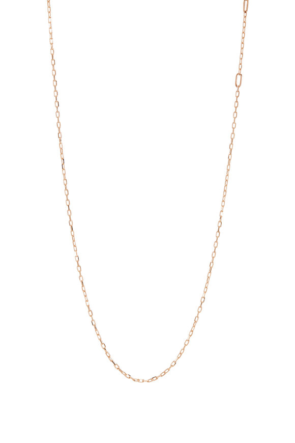 """Walters Faith 18K Rose Gold Thin Chain Necklace, 16"""""""