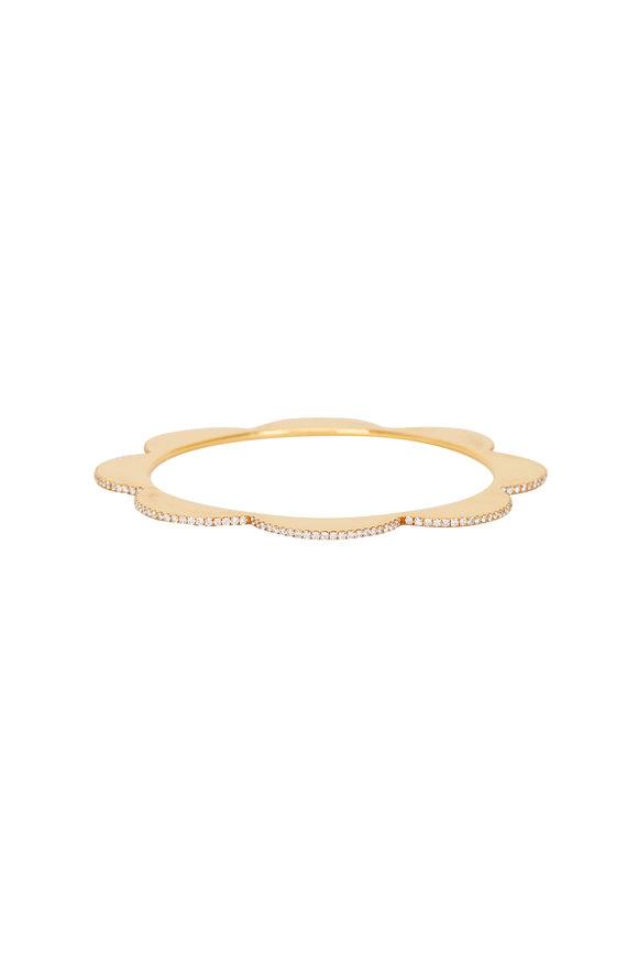 Cadar 18K Yellow Gold Diamond Triplet Bracelet
