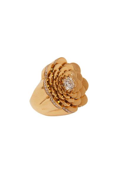 Cadar - 18K Yellow Gold Diamond Trio Cocktail Ring