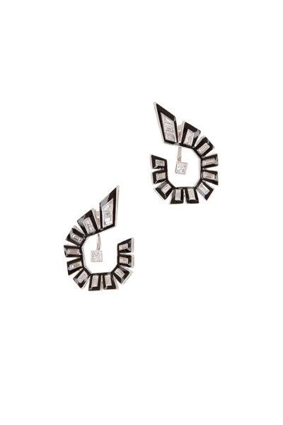 Stephen Webster - 18K White Gold Dynamite Enamel & Diamond Earrings