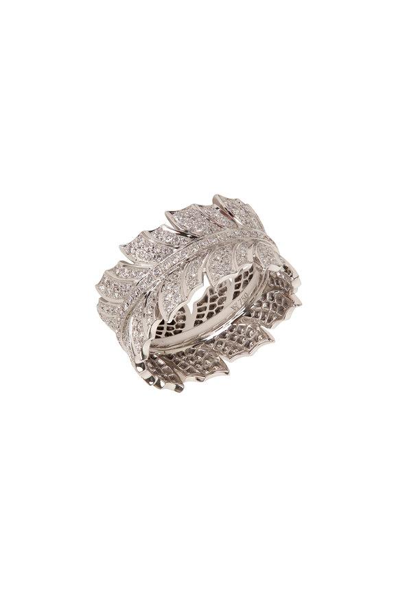 Stephen Webster 18K White Gold Magnipheasant Pavé Ring