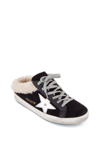 Golden Goose - Superstar Black Shearling Lined Slip On Sneaker