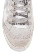 Golden Goose - Midstar White Leather & Silver Star Sneaker