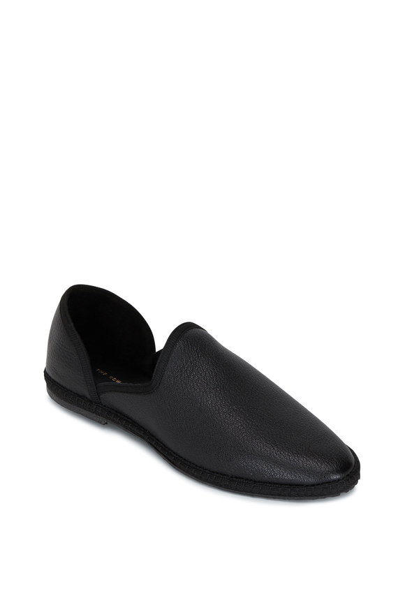 The Row Friulane Black Leather Flat Loafer