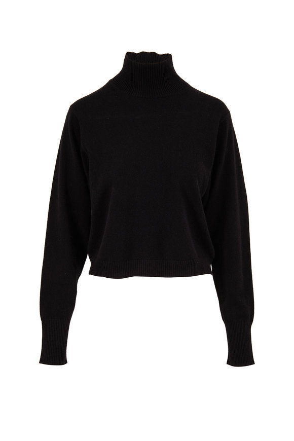 Le Kasha Vail Black Cashmere Mock Neck Sweater