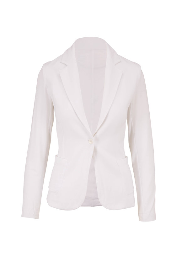 Majestic Blanc French Terry Single Button Blazer
