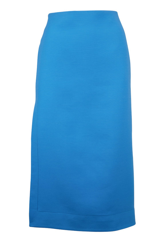 Valentino Turquoise Crepe Couture Pencil Skirt