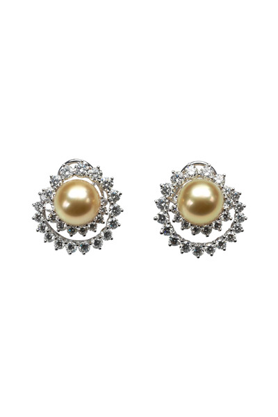 Assael - Angela Cummings Swirl Diamond Pearl Earrings