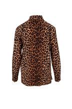 Saint Laurent - Leopard Print Silk Button Down Blouse