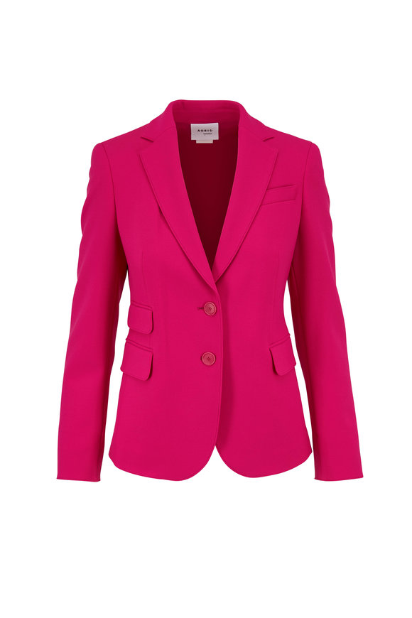 Akris Punto Neon Pink Two-Button Jacket