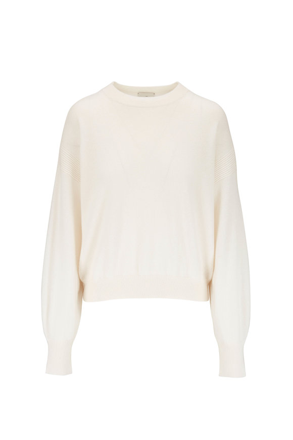 Le Kasha Modena White Light Weight Cashmere Sweater