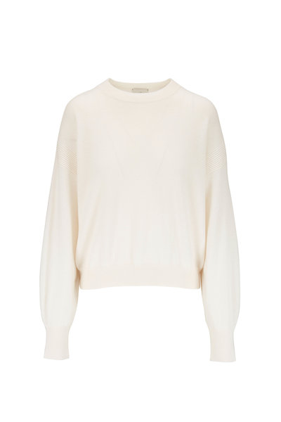Le Kasha - Modena White Light Weight Cashmere Sweater