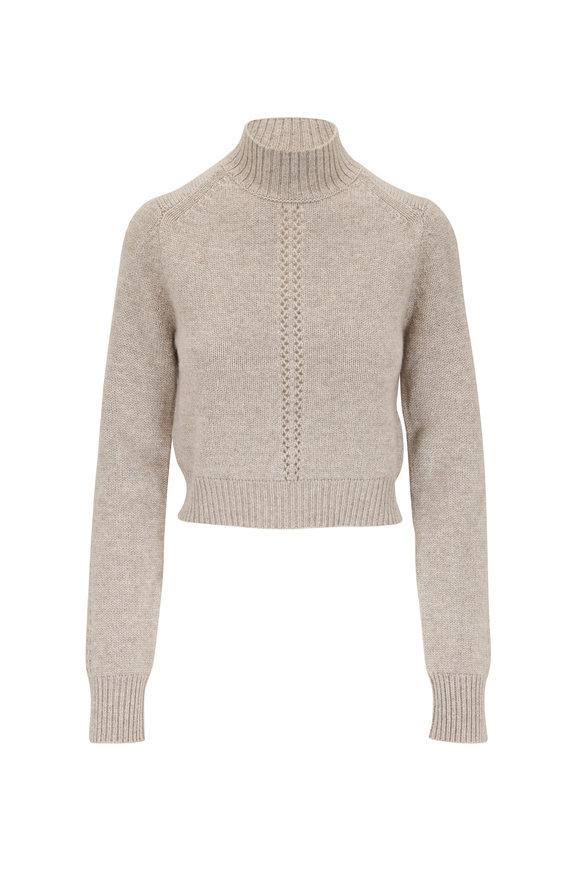 Le Kasha Milano Light Brown Cashmere Mockneck Sweater