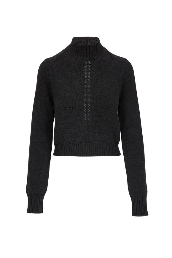 Le Kasha Milano Black Cashmere Mockneck Sweater