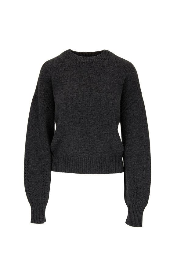 Le Kasha Bergamo Charcoal Cashmere Sweater