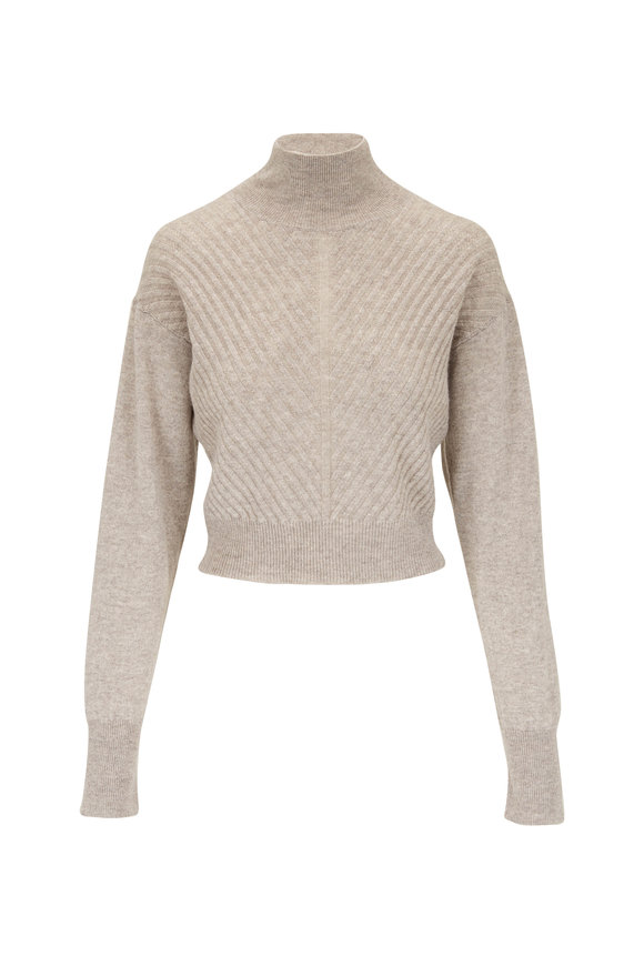 Le Kasha Madera Light Brown Cashmere Turtleneck