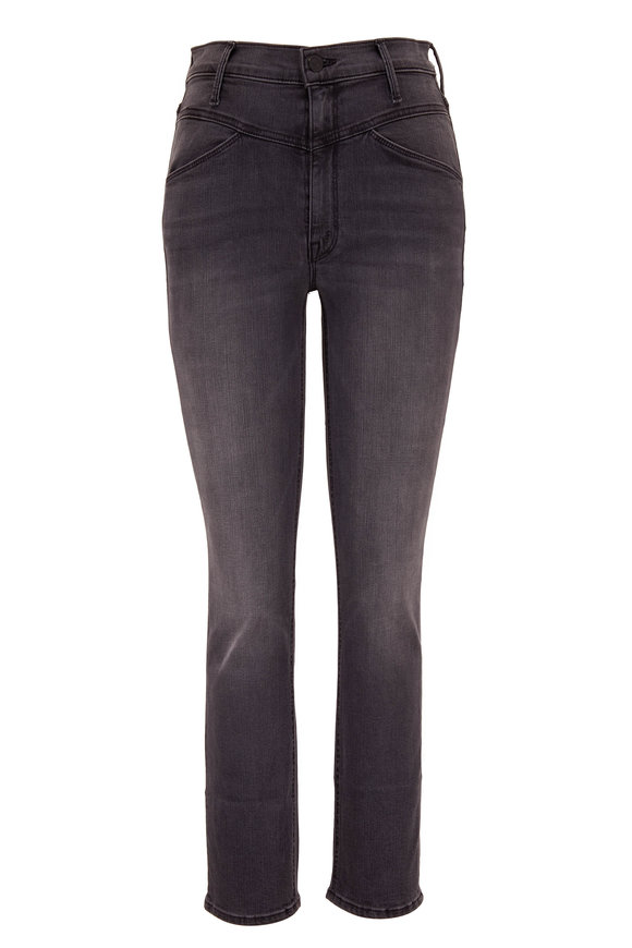 Mother Denim The Dazzler Gray Yoke Front Ankle Jean