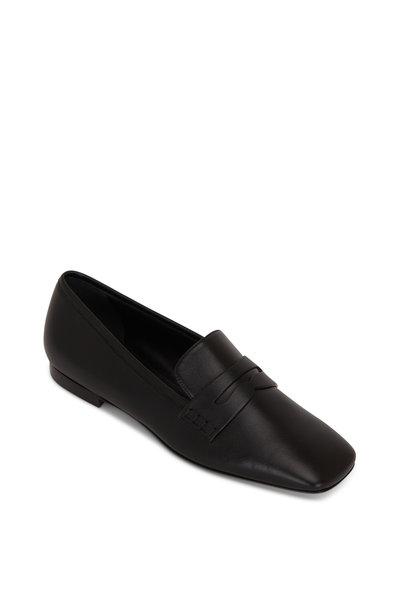 Khaite - Carlisle Black Leather Penny Loafer