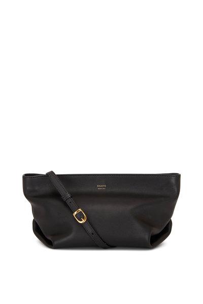 Khaite - Adelin Black Leather Envelope Crossbody Bag