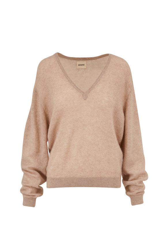 Khaite Sam Barley Cashmere V-Neck Sweater