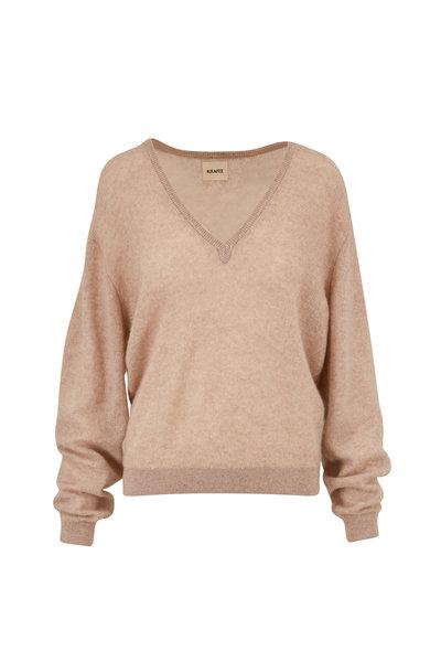 Khaite - Sam Barley Cashmere V-Neck Sweater