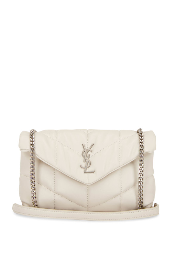 Saint Laurent Puffy Crema Quilted Leather Mini Bag