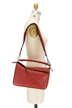 Loewe - Puzzle Burnt Red Leather Top Handle Bag