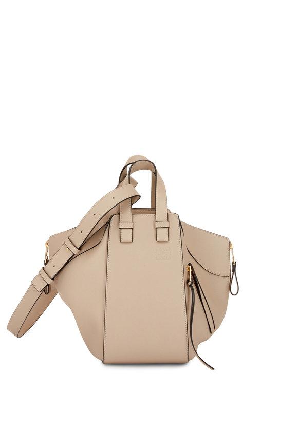 Loewe Hammock Sand Leather & Canvas Small Bag