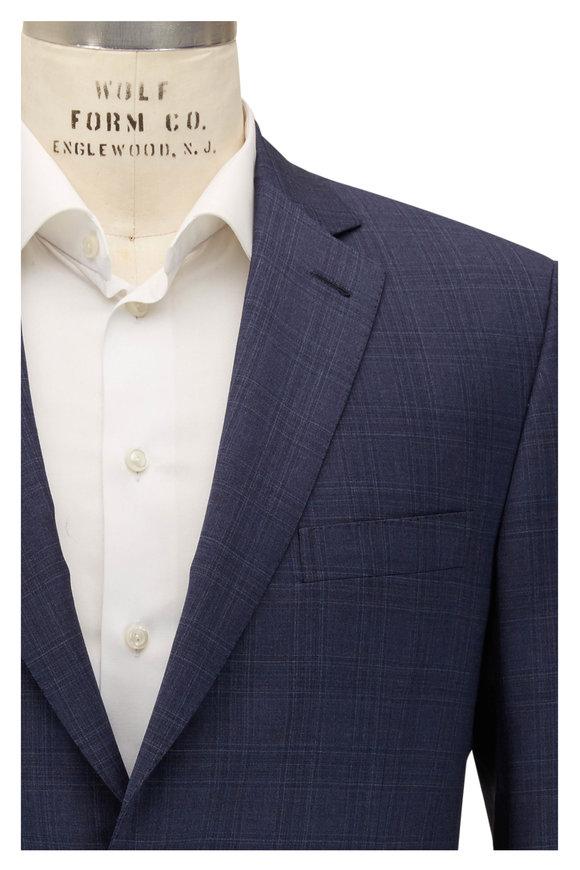 Brioni Slate Wool Windowpane Suit