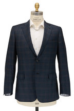 Brioni - Teal Green Windowpane Wool Sportcoat