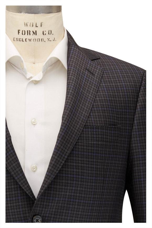 Maurizio Baldassari Gray & Black Check Wool Sportcoat